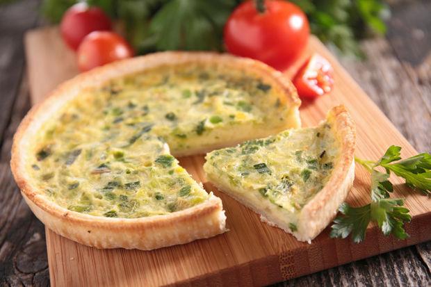 Pırasalı ve peynirli tart