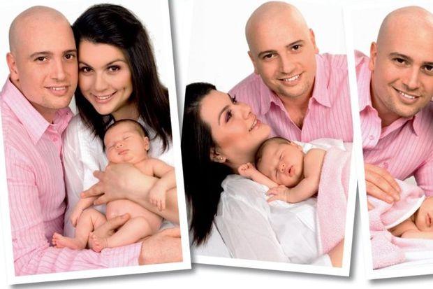 Açelya, Enis ve Alya Deniz'in mutlu aile tablosu