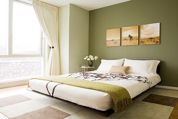 Zen yatak odası dekorasyonu