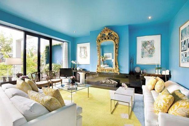 Oturma odanızda mavi'ye ne dersiniz?