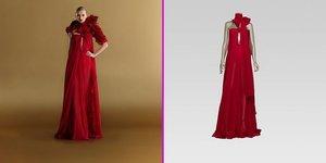 Yılbaşı gecesi için iddialı, kırmızı elbiseler