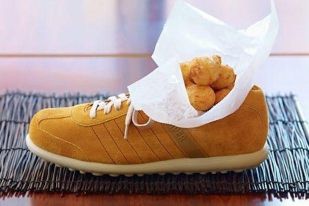 Yemeğinizi ayakkabıda alır mısınız?