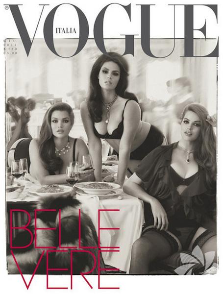 <p>Vogue İtalya, büyük-beden mankenlerin olduğu kapağı ile dikkat çekti.</p>