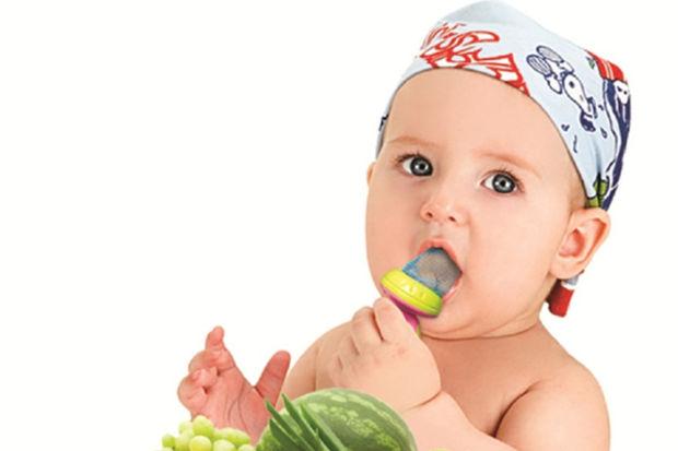 Bebeklere  meyve ve sebzeyi bu file ile sevdirin…