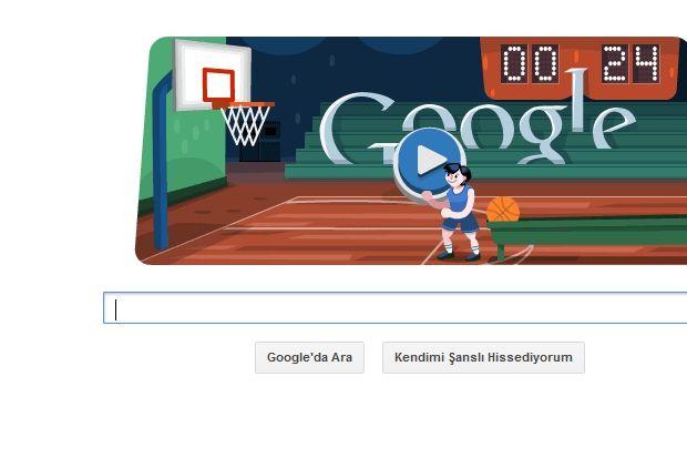 Google'da basketbol oynuyoruz...