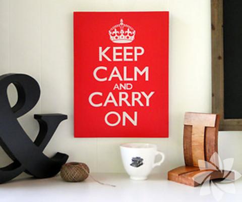 """""""Keep calm"""" dekorasyon önerileri..."""