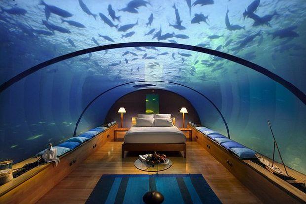 """Fiji'de """"denizaltı"""" oteli!"""