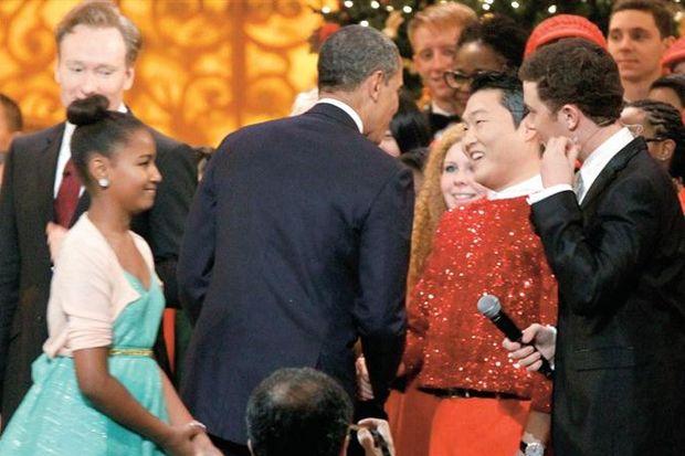 Bu kez Obama için Gangnam Style yaptı!