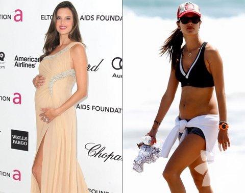 Doğumdan önce ve sonra Hollywood anneleri...