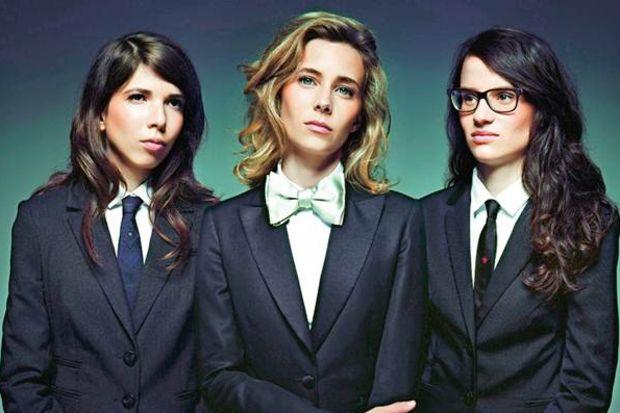 Cool Fransız müzisyen 3 kadın