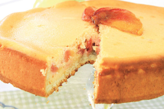 Şeftalili cheesecake