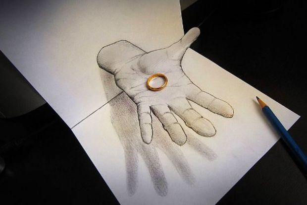 """Çizim meraklılarına özel """"3D Çizimler"""""""