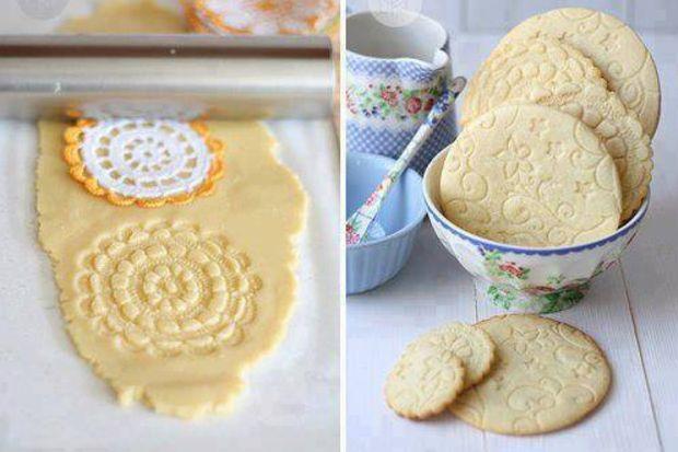 Dantellerinizi kurabiyede kullanın