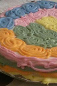 Gökkuşağı pasta