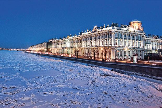 St. Petersburg'da ayaz geceler