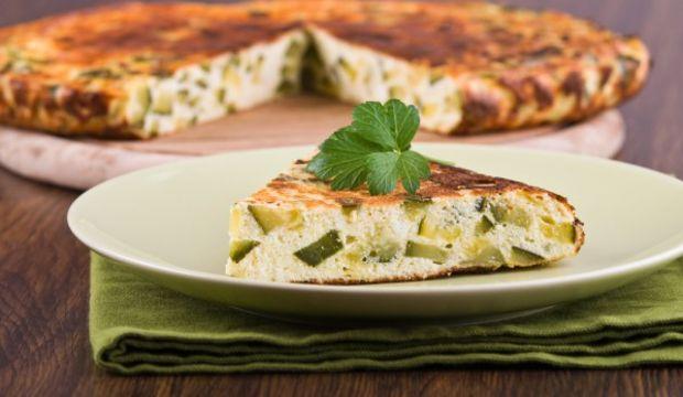Naneli ve kabaklı omlet