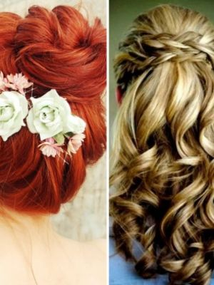 Nişana özel saç modelleri