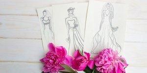 Gerçek çiçeklerle tasarlanmış elbiseler