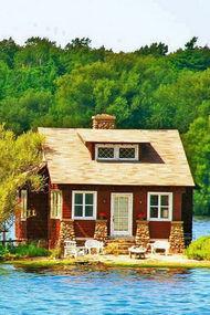 Rüya gibi ada evleri
