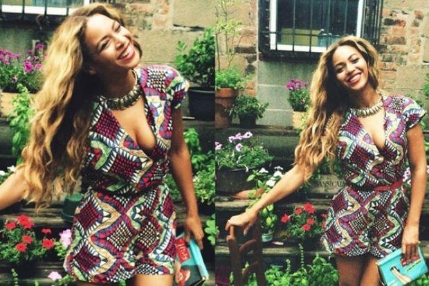 Beyonce'dan mutlu aile pozları