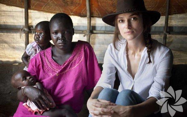 Angelina Jolie'yi örnek alan Knightley bundan böyle bu tip organizasyonlara daha çok vakit ayıracağını açıkladı.