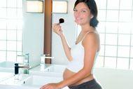 Hamile makyajında pudra kullanımı