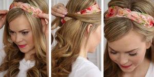 Saçlarınıza bandana takmanın 7 basit yolu