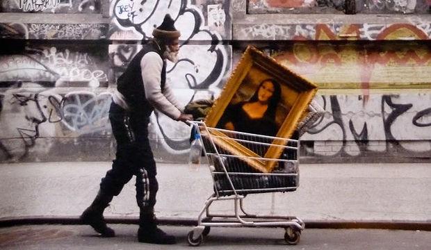 Banksy çizimlerindeki mesaj...