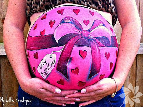 Sanat hamile karnında!