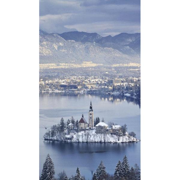 Sevmeyenlere bile kışı sevdirebilecek kar manzaraları... Bled Gölü, Slovenya