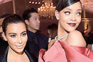 Rihanna ve Kim Kardashian nezaketen aynı karede