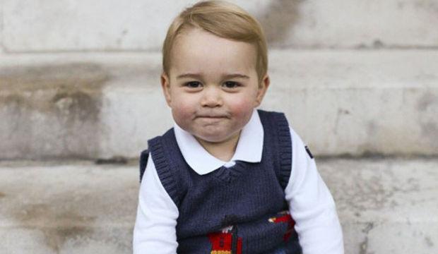 Kate Middleton'un oğlundan basına teşekkür pozu