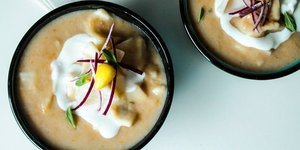 """Mantılı """"kuru fasulye"""" çorbası"""