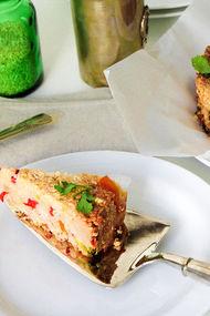 Fırında sebzeli & tavuklu pirinç