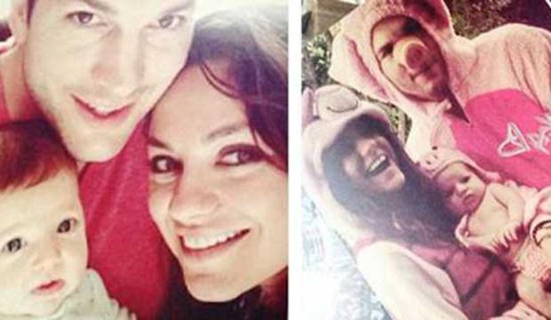 Ashton Kutcher bebeğinin ilk fotoğrafını yayınladı