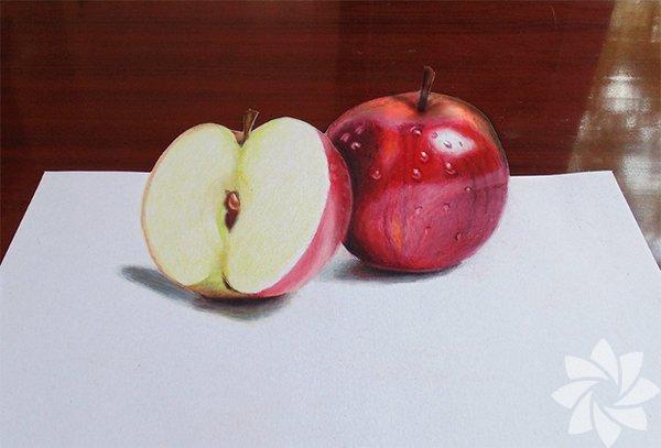 3 boyutlu elma çizimi