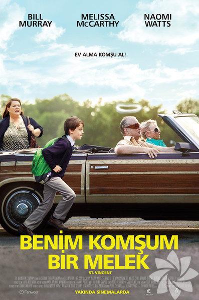 """Benim Komşum Bir Melek (St. Vincent) Komedi  Bu yıl Altın Küre'de En İyi Komedi Filmi dalında aday gösterilen """"Benim Komşum Bir Melek"""" filminde, yalnız bir annenin 12 yaşındaki oğlunu komşusuna emanet etmesi ile başlayan bir hikaye anlatılıyor. Komşu Vincent alkolik, huysuz bir ihtiyardır ama anne Maggie'nin çok fazla seçme şansı yoktur… Filmin başrollerini Bill Murray, Melissa McCarthy ve Jaeden Lieberher paylaşıyor."""
