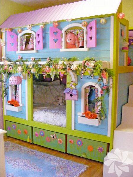 Çocukların hayal dünyaları kadar renkli odaları
