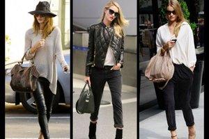 En iyi model Rosie Huntington'ın sokak stili...