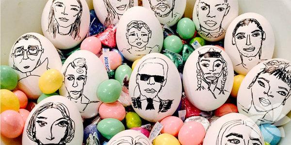Tasarımcı Carly Kuhn paskalya bayramı için moda kokulu yumurtalar tasarladı. Bizim favorimiz Karl Lagerfeld!