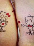 Eşleştirmeli çift dövmeleri...