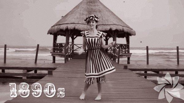 1890'lardan günümüze Amanda Cerny ile bikininin evrimini incelemeye ne dersiniz?  1890'lar.