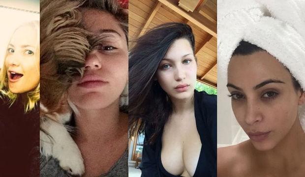 Ünlülerin makyajsız selfieleri