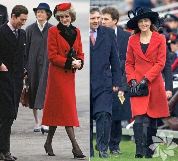 Lady Diana ve Kate Middleton'un stil benzerliği