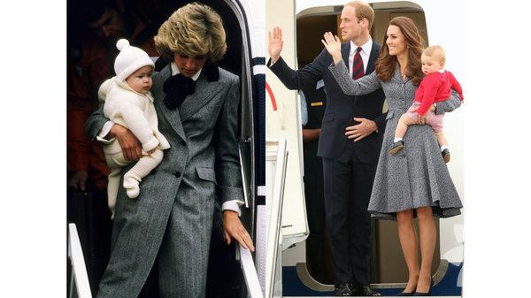 Lady Diana ve Kate Middleton'un tarz benzerliği