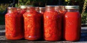 Kışlık domates konserve yapımı
