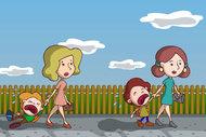 Ağlayan çocuğu okulda bırakıp gitmeyin