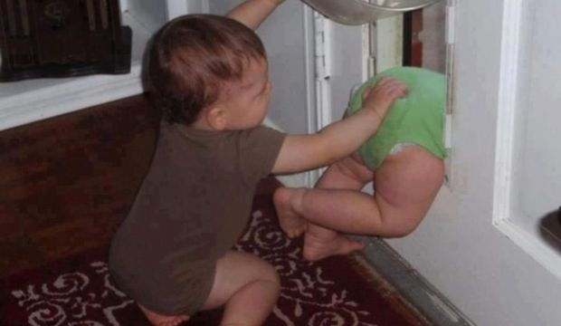 En komik çocuk fotoğrafları