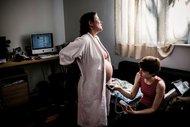 Evde doğumunun fotoğrafları