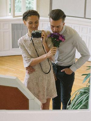 Kendi düğününün fotoğrafçısı